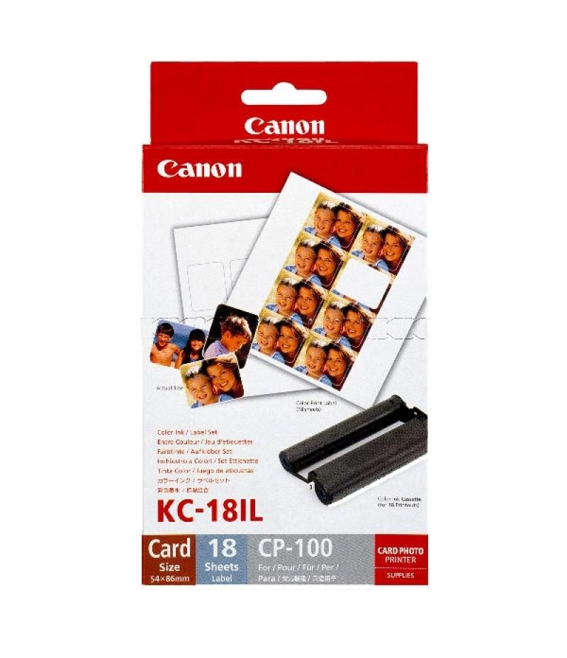 Canon Color Ink/Label set KC-18IL