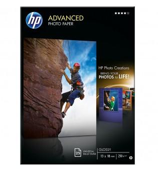 HP Advanced Glossy Photo Paper-25 sht/13 x 18 cm borderless