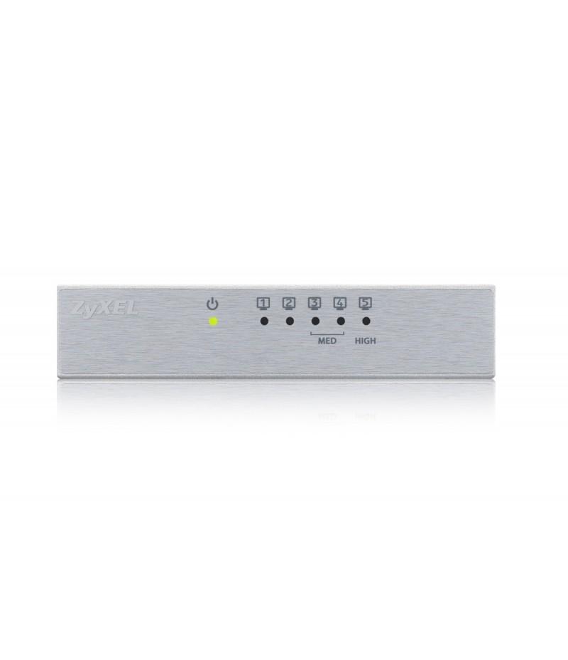 ZyXEL GS-105B v3, 5-port 10/100/1000Mbps Gigabit Ethernet switch, desktop, metal housing