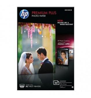 HP Premium Plus Glossy Photo Paper - 50 sht/10 x 15 cm