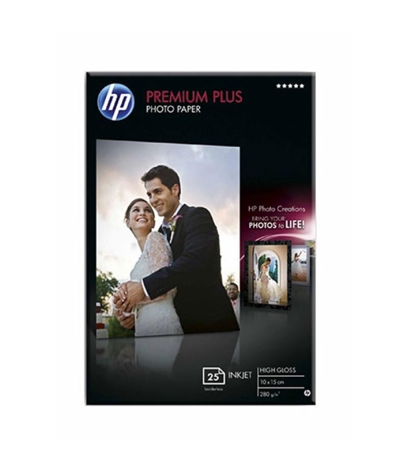 HP Premium Plus Glossy Photo Paper - 25 sht/10 x 15 cm