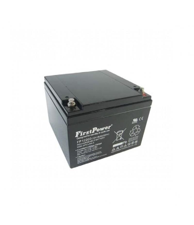 FirstPower FP26-12 - 12V 26Ah F2