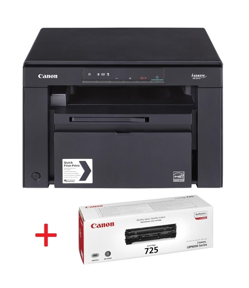 Canon i-SENSYS MF3010 Printer/Scanner/Copier + Canon CRG725 Toner Cartridge