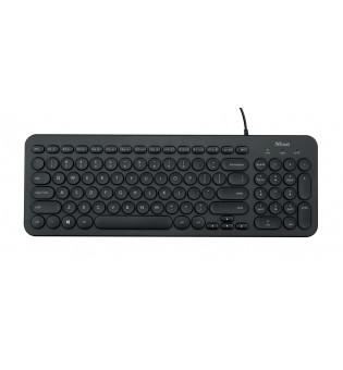 TRUST Muto Silent Keyboard BG layout