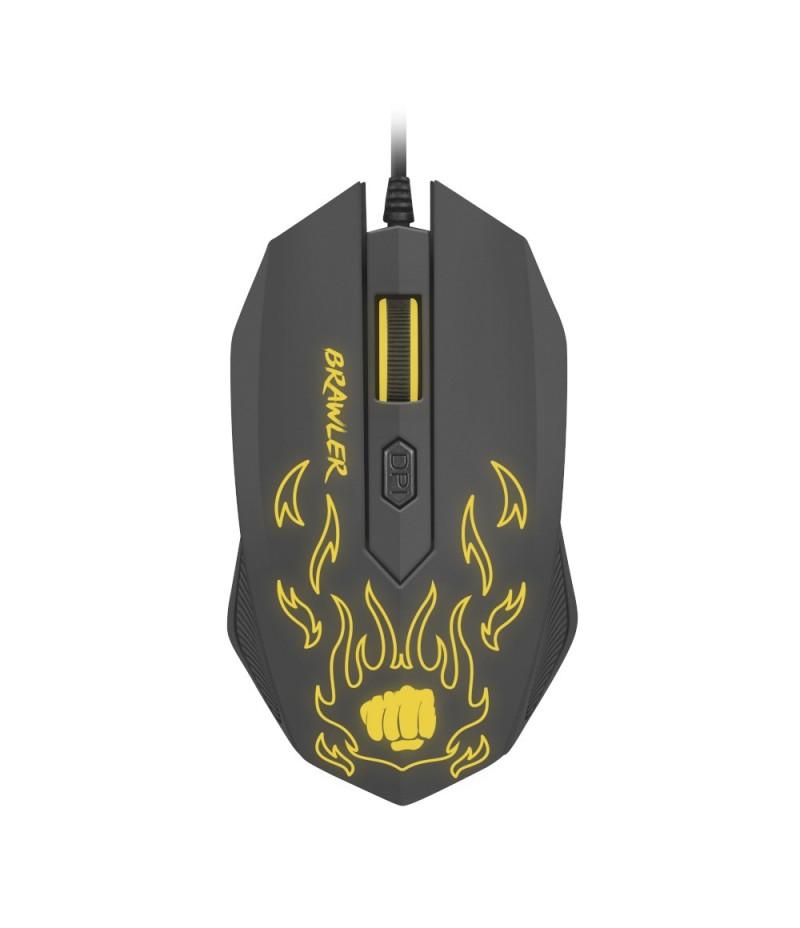 Fury Gaming mouse, Brawler optical 1600dpi Illuminated Black