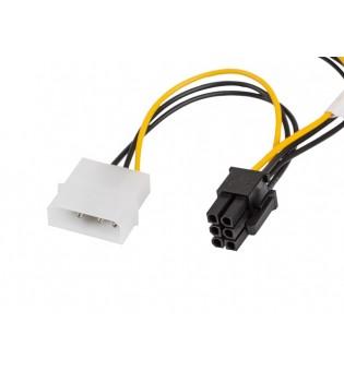 Lanberg HDD 2x molex (m/f) 3 pin -> btx 6 pin psu, cable 15cm