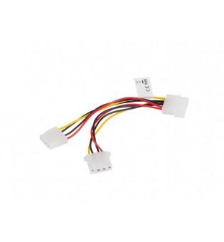Lanberg HDD molex (f) 4 pin -> 2x molex (f/m) 4 pin, cable 15cm