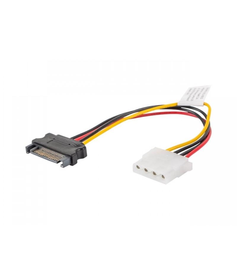 Lanberg molex (f) -> SATA (m), cable 15cm