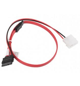 Lanberg molex 2 pin (m) + SATA 7 pin (f) -> SATA 13 pin (f) data slimline, cable 45cm