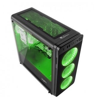 Genesis Case Irid 300 Green Midi Tower Usb 3.0