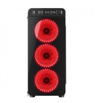 Genesis Case Irid 300 Red Midi Tower Usb 3.0