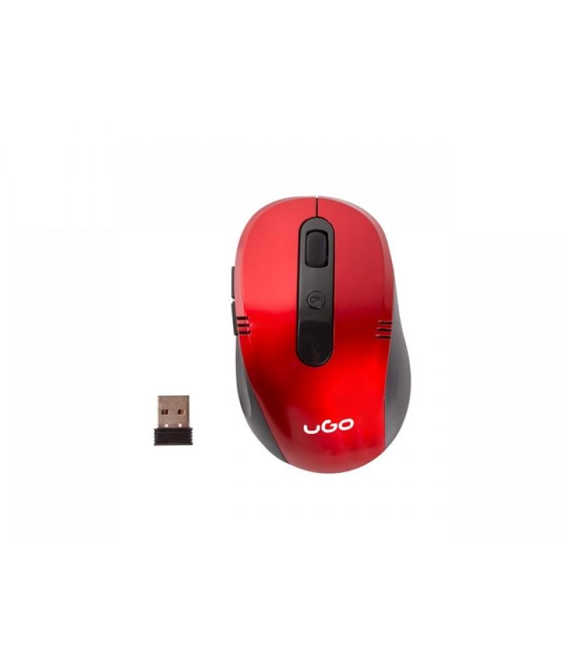 uGo Mouse MY-02 wireless optical 1800DPI, Red