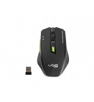 uGo Mouse MY-04 wireless optical 1800DPI, Black