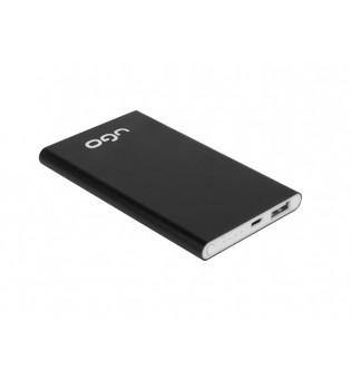 uGo Power bank UPB-1137 5000MAH USB LI-POLY 1A, Black aluminium