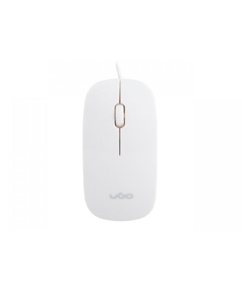 uGo Mouse MY-06 wired optical 1200DPI, White