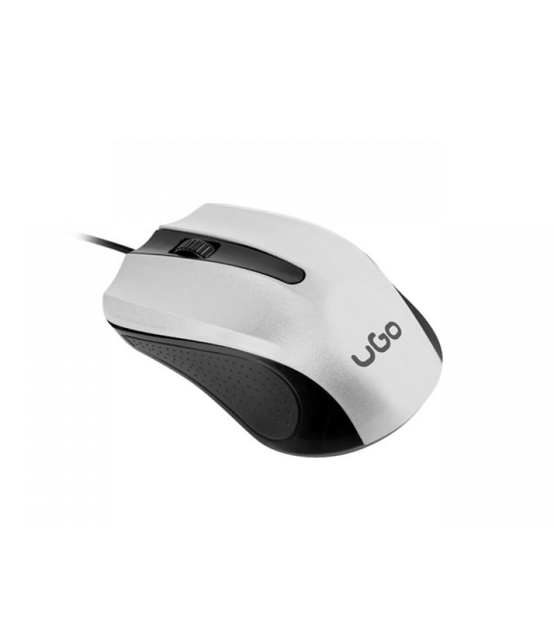 uGo Mouse UMY-1216 optical 1200DPI, White-Black