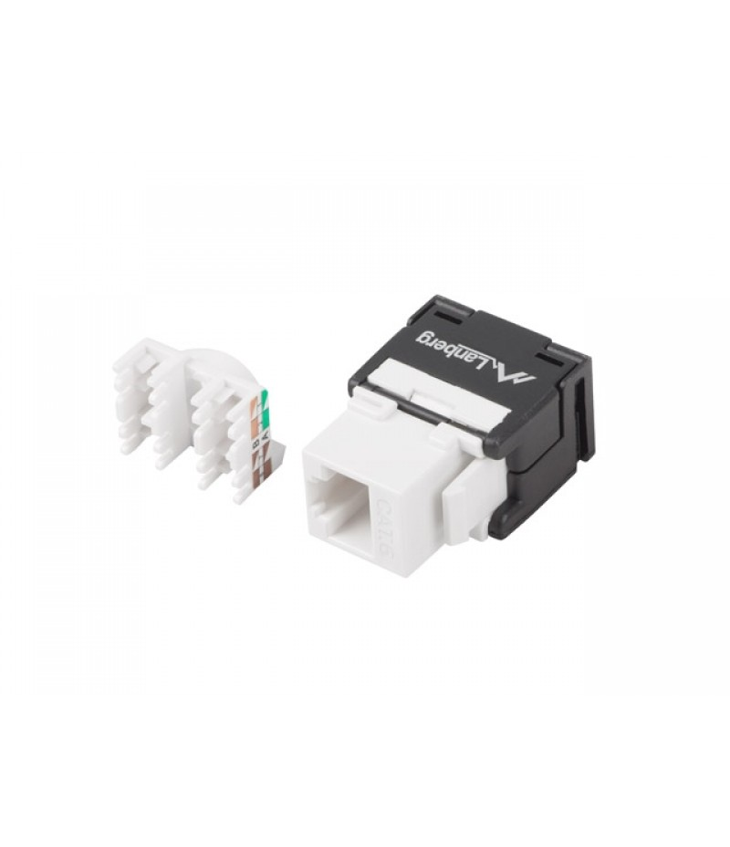Lanberg keystone module toolless RJ45 180° UTP CAT.6a