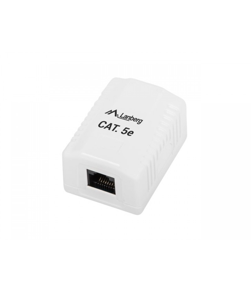Lanberg surface-mount box CAT.5e UTP UNshielded 1X RJ45, white
