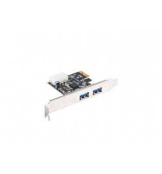 Lanberg extension card PCI-express -> 2 x USB 3.1 gen 1 + low profile bracket