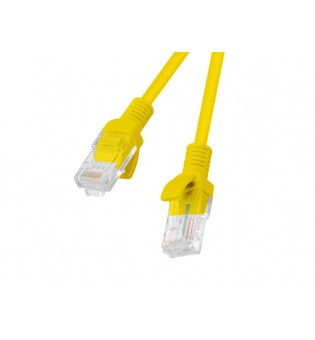 Lanberg patch cord CAT.5E 0.25m, yellow