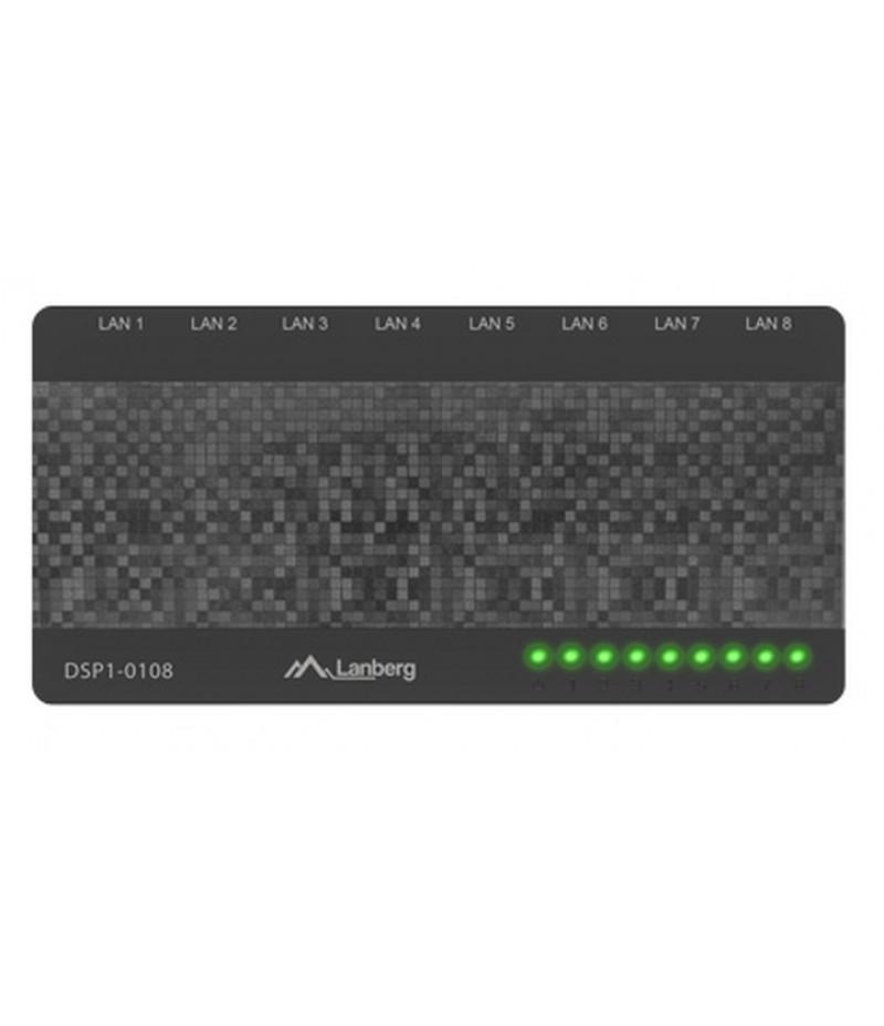 Lanberg switch DSP1-0108 8-port, 100MB/s