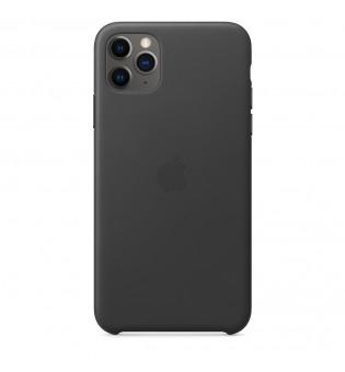 Apple iPhone 11 Pro Max Leather Case - Black