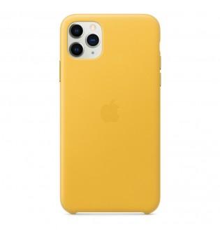 Apple iPhone 11 Pro Max Leather Case - Meyer Lemon (Seasonal Autumn 2019)
