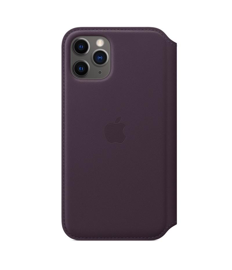 Apple iPhone 11 Pro Leather Folio - Aubergine (Seasonal Autumn 2019)