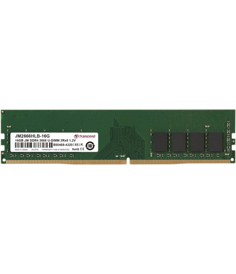 Transcend 16GB JM DDR4 2666Mhz U-DIMM 2Rx8 1Gx8 CL19 1.2V