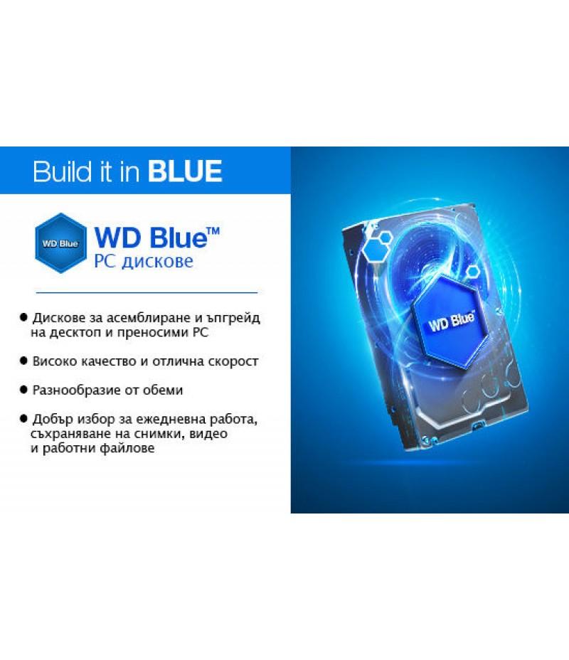"""Твърд диск WD 1TB Blue 3.5"""" SATAIII 64MB WD10EZEX"""