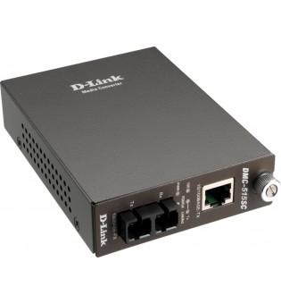 Медиен конвертор D-Link 10/100BaseTX to 100BaseFX SC Singlemode DMC-515SC/E