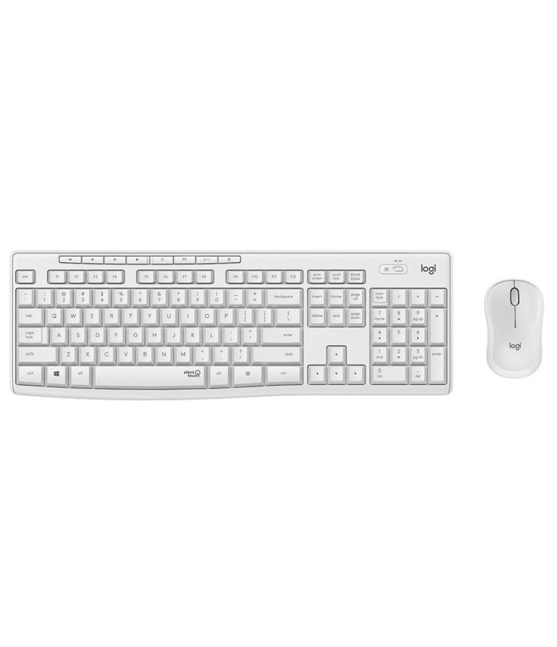 Безжичен комплект клавиатура и мишка Logitech MK295 OFF WHITE 920-009824