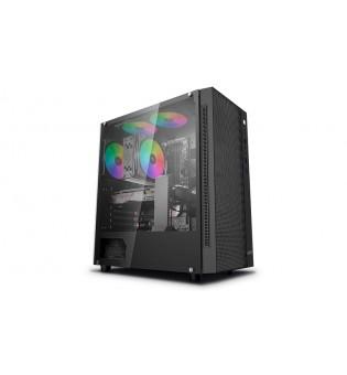 Кутия за настолен компютър DeepCool Matrexx 55 Mesh с прозрачен страничен панел ATX mid tower