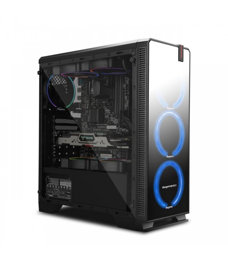 Кутия за настолен компютър Segotep Halo 7 Plus SG-H7P с прозрачни панели
