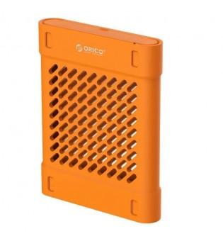 Силиконово защитно калъфче за 2.5-инчови HDD/SSD Orico PHS-25-OR в оранжев цвят