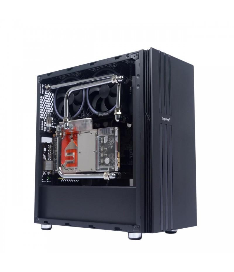 Кутия за настолен компютър Segotep Fenix NF FENIX-BK-NF прозрачен панел