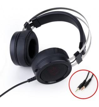 Геймърски слушалки с микрофон Redragon Scylla H901 черни