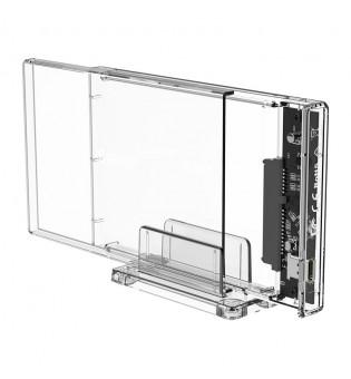Прозрачна кутийка за 2.5-инчови HDD/SSD дискове Orico 2159C3-G2-CR USB 3.1