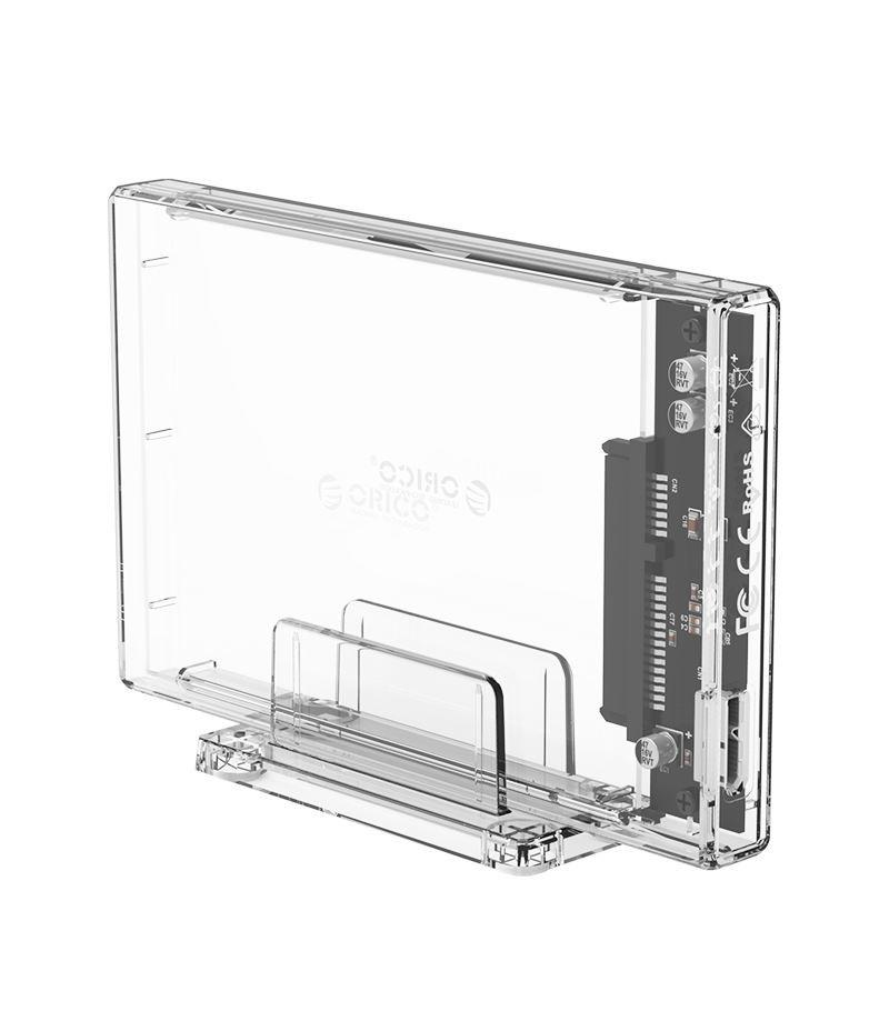 Прозрачна кутийка за 2.5-инчови HDD/SSD дискове Orico 2159U3-CR USB 3.0