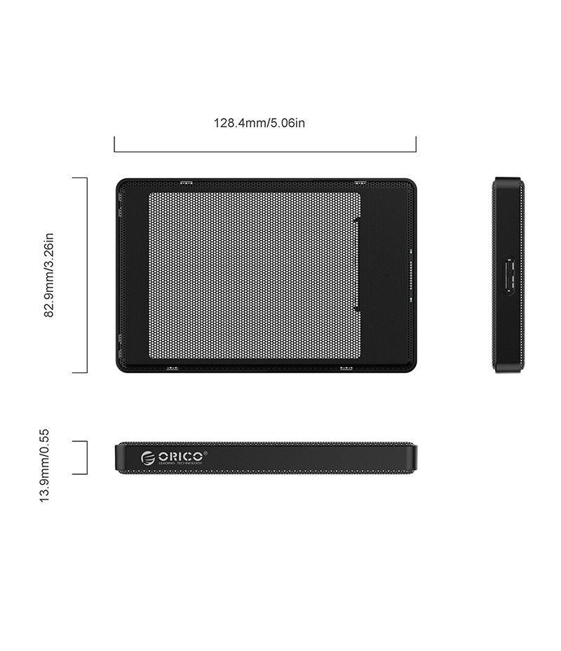 Кутийка за 2.5-инчови HDD/SSD дискове Orico 2169U3-BK USB 3.0