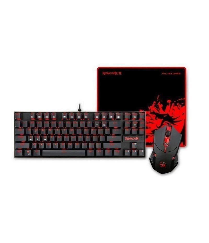 Геймърски комплект Redragon - клавиатура+мишка+подложка за мишка Gaming Essentials 3-in-1 V2 K552-BA-2