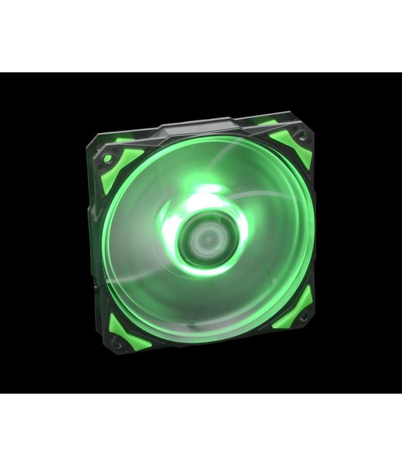 Oхладител за кутия ID Cooling PL-12025-G 120mm зелена LED подсветка