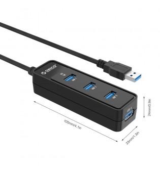 Хъб Orico W5PH4-U3 Black USB3.0, 4 порта