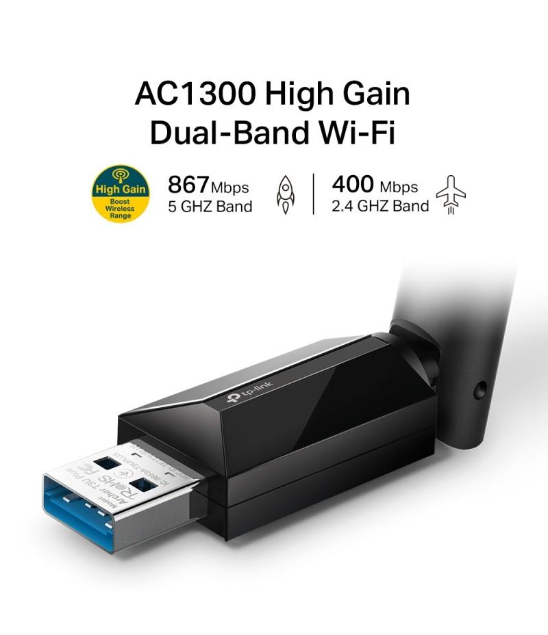 2-лентов безжичен USB адаптер TP-Link Archer T3U Plus AC1300