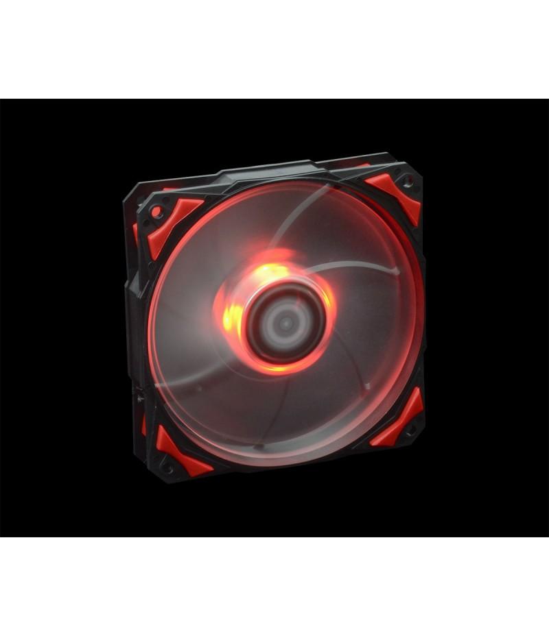 Oхладител за кутия ID Cooling PL-12025-R 120mm червена LED подсветка