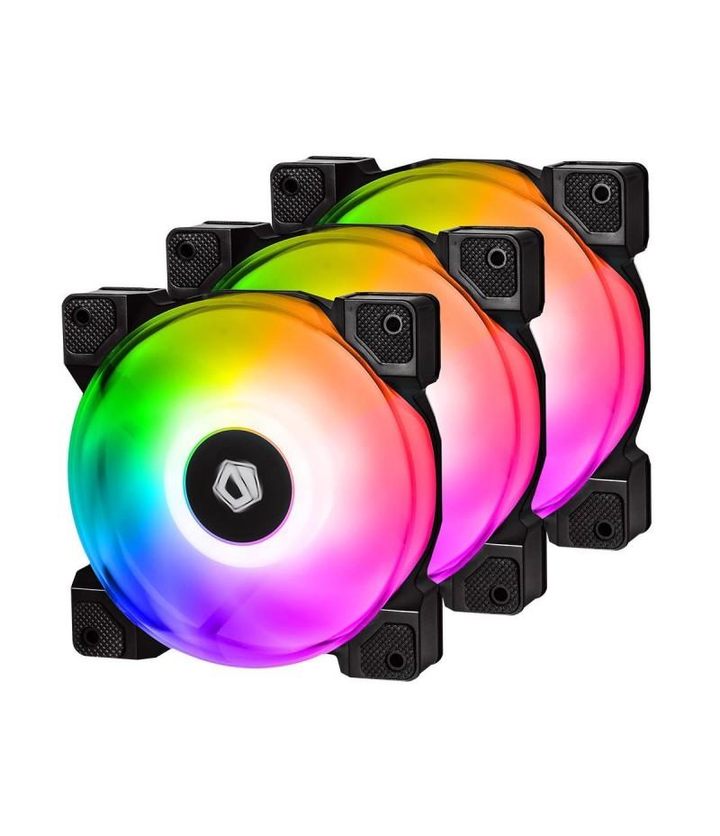 3 бр. aRGB охлаждащи вентилатори за компютърна кутия ID-Cooling DF-12025-ARGB-3