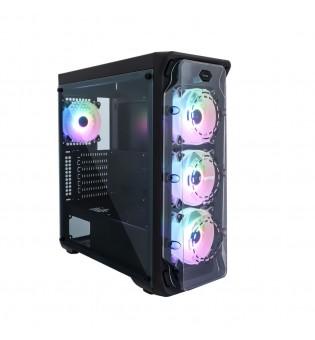 RGB кутия за настолен компютър Segotep LUX II с прозрачен страничен панел