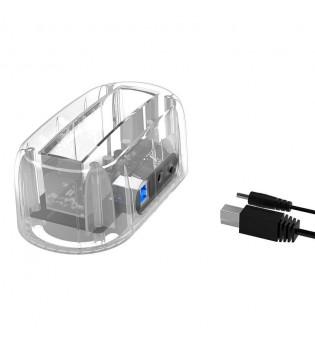 """Прозрачна кутия за 2.5""""/3.5"""" HDD дискове Orico 6139U3 PRO USB 3.0"""