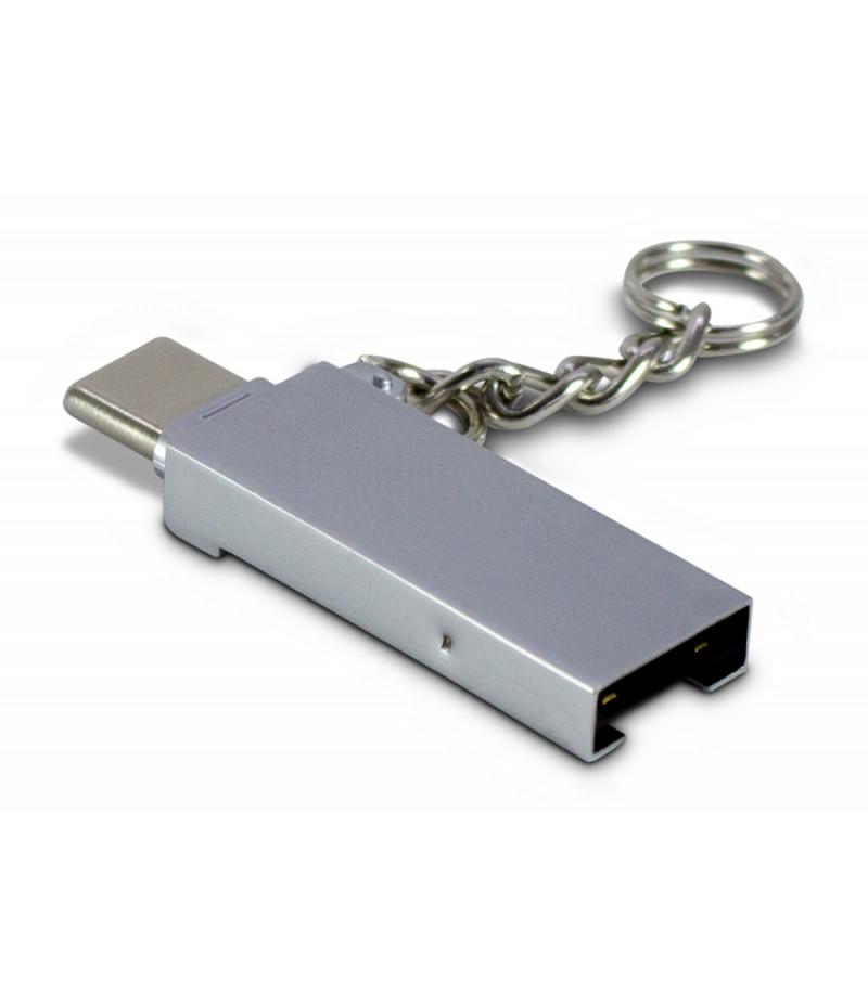 Четец на карти Inter-Tech USB type-C към USB A
