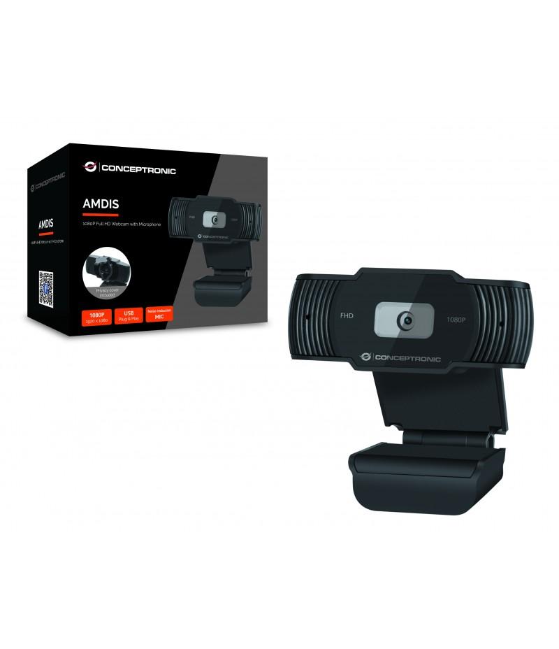 Уебкамера с микрофон Conceptronic AMDIS04B FHD